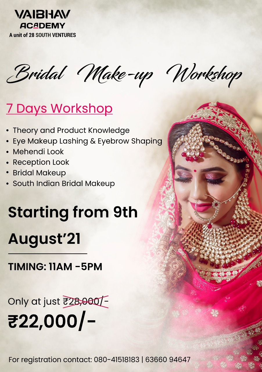 7 days Bridal makeup workshop